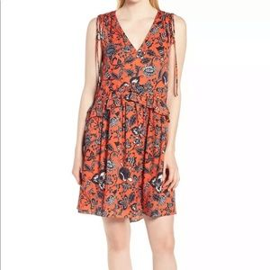 Nordstrom Signature NEW Red Floral 12 Silk
